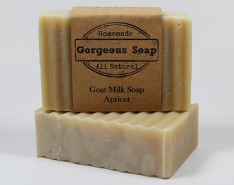 Apricot Goat Milk Soap - All Natural Soap, Handmade Soap, Homemade Soap, Handcrafted Soap