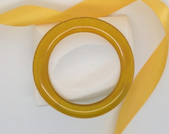 Bangle Bracelet-Gold Glass Bracelet, Fused Glass Bangle