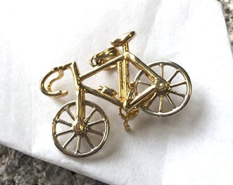 14K Gold Bicycle Pendant