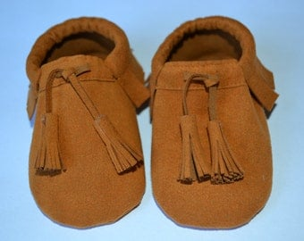 Suede loafers with TASSELS for neonati/e and bambini/e