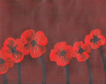 Poppies - Canvas Paper - Acrylic