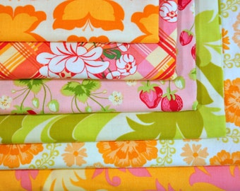 Fabric destash Meadowsweet by Sandi Henderson of Michael Miller Fabrics  100% Cotton Quilting collection of  6 Fat Quarters