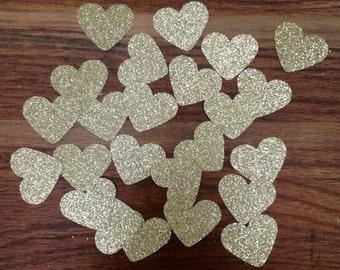 Gold Heart Confetti, Heart Confetti, Tabletop Confetti, Party, Bridal Shower, Baby Shower, Party Decor,Small Confetti