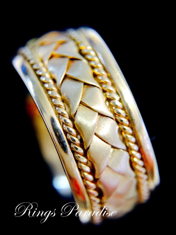 14k Gold Claddagh Ring Men S Women Scottish Ring Unique