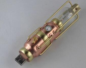 Steampunk USB drive, USB flash drive, 32 GB, steam boiler, steam engine