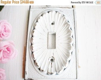 Sale Shabby Beach Light Switch Cover, 1 Way Light Switch Plate Cover, Vintage Repurposed In White Wall Decor Shabby Chic ,Price For 1