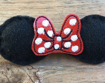 Minnie Mouse/ Ears/Headband /Girls Infant /Bow/Photo Prop