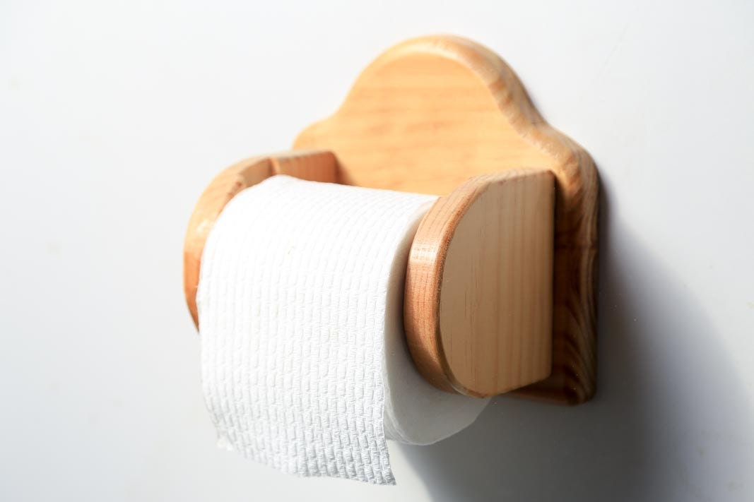 Wooden Toilet Paper Holder Arch Back By Fqcraftswoodworks