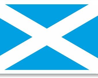 Vinyl sticker/decal Medium 120mm Scotland flag