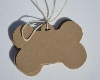 Dog Tag Style Doggie Bone Die Cut