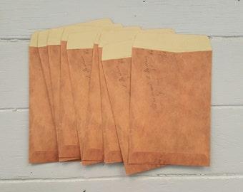10 Vintage Look Kraft Envelopes