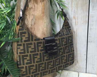 Fendi Bag - Vintage Fendi Purse - Fendi Handbag, Fendi Shoulder Bag, Designer Bag, Fendi Bags, Brown Fendi Purse, Fendi Italy, Fendi Vintage