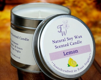 Lemon Scented Soy Wax Candle