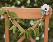 Chair garland - Bride and Groom Chair Garland - Rustic chair decoration