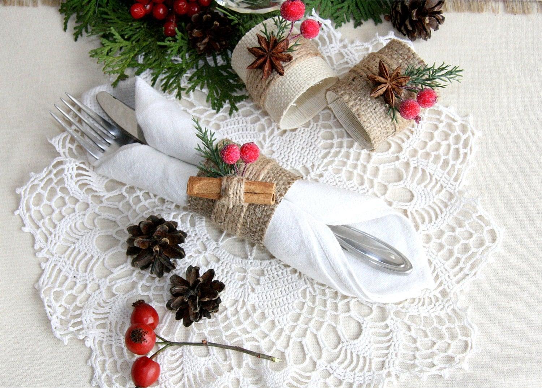 Christmas Napkin Ring Winter Napkin Ring Christmas Table