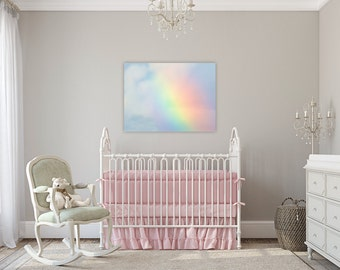 Somewhere Over the Rainbow ~ Canvas Gallery Wrap, Wall Art, Nursery, Girl, Baby, Children's Room, Fine Art Photography, Baby Shower, Gift