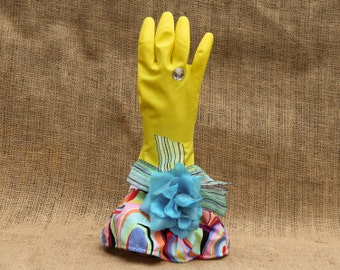 Dish Cleaning Gloves. Dish Gloves, Dish washing Gloves. Waterproof works of art. Latex dish washing gloves. Mom will love these. Dish Gloves