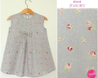 """Baby girls dress tunic tunics pink roses """"my little dress"""" with loop"""