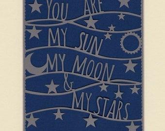 Sun Moon & Stars Papercut