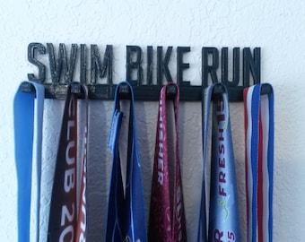Swim Bike Run Triathlon Sports Medal Display Medal Rack Medal Holder Running Medal Hanger