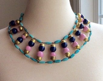 One-of-a-kind Handcrafted Egyptian Style Collar Necklace