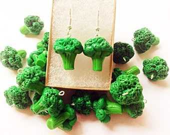 Ready to ship Broccoli earrings,Vegetable earrings,Food jewelry,Vegetable jewelry,Funny gift for women,Cute charms,Garden vegetable earring