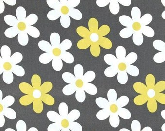 Lil Plain Jan in Gray and Citron Yellow by Michael Miller Fabrics