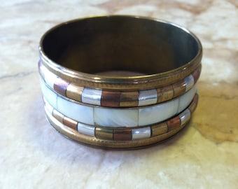 Brass bangle bracelet free shipping