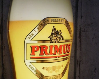 vintage Primus - Belgian beer lamp, wall light, beer glass, collectable