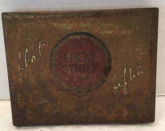 Lucky Strike Cigarette Tin~ Float Fifties~ Cigarette Box ~ Vintage