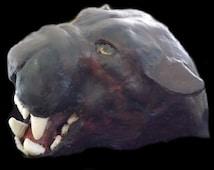 Paper Mache Sculpture: Jaguar Mask Art