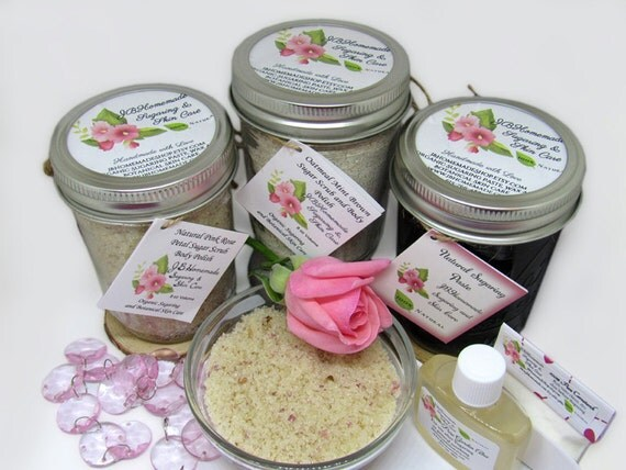Sugaring Paste & Pink Rose Petal Sugar Scrub Deluxe Bundle
