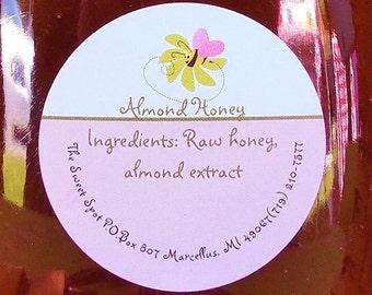 Almond Honey 8 oz glass jar