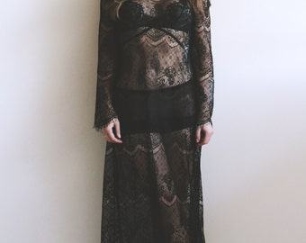 Celvin Lace Slip Gown. Slip Dress, Lace Dress, Evening Gown, Lace Gown. Irina Shad.