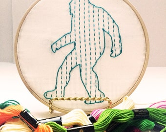 Turquoise Bigfoot Embroidery