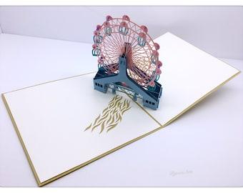 3D Pop Up Ferris Wheel Card