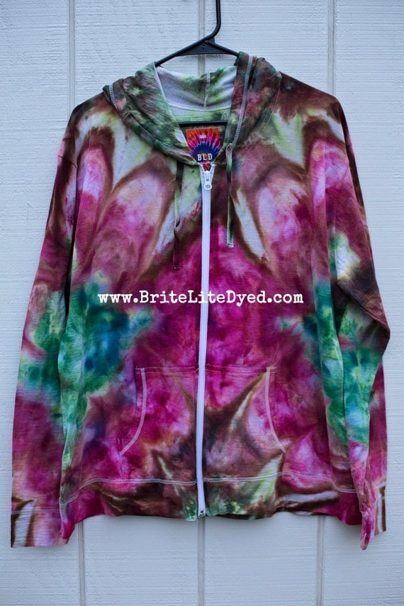 tie dye jacket hoodie 2xl tie dye by britelitedyed on etsy