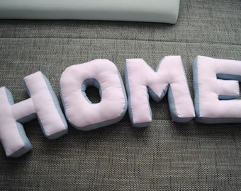 Letter Pillows Home