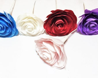 Camelia, Camelia paper flowers, Coffee filter flowers, Made in colors of your choice, Fake flowers, Custom color flowers, Paper flowers