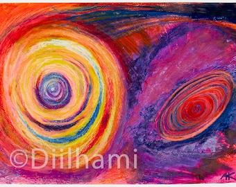 Galaxy - small art print (8.5 x 11.5 inch)