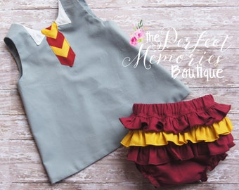 Harry Potter | Gryffindor | Baby Wizard | Baby Witch Dress | Little Wizard | Baby Girl Costume | Harry Potter Birthday |Harry Potter Party