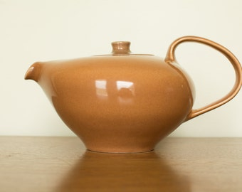 Russel Wright Iroquois Casual Tea Pot Ripe Apricot - Mid Century Modern