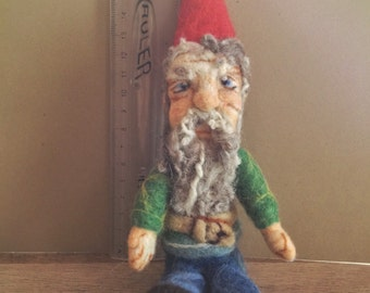 Needle Felted Traditional Gnome