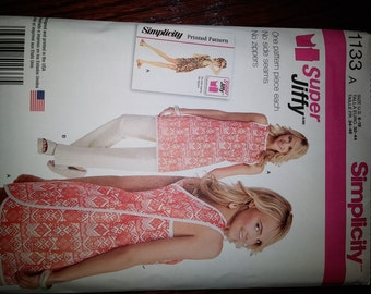 Simplicity 1133 Pinafore Apron Dress Tunic and pant Easy pattern