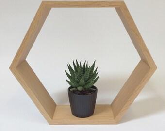 Hexagon Shelving   Oak   Geometric