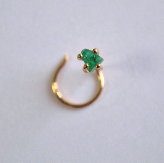 emerald nose stud green emerald by