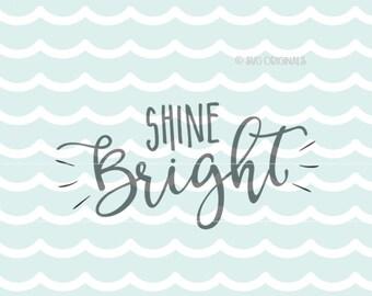Shine Bright like a Diamond SVG Vector File. So many uses! Cricut Explore and more. Shine Bright Let Your Light Shine Diamond SVG