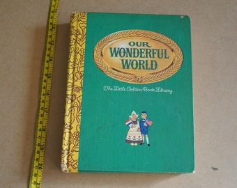 Vintage 1969 - Our wonderful world 1969 golden book library - hardcover