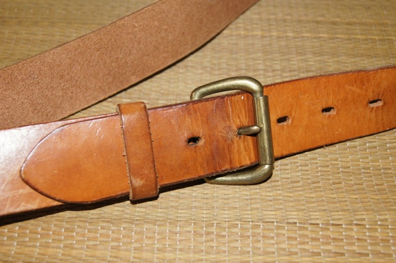 vintage 1980 s ll bean by bianchi leather belt 40
