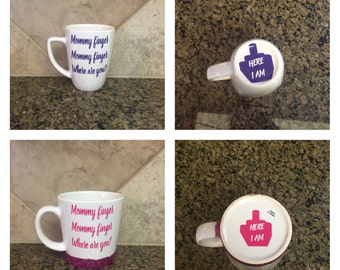 ON SALE Finger family song you tube - mommy finger coffee mug - daddy finger mug - funny mom mug - mom life mug - middle finger mug